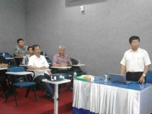 Pembukaan Forum Ilmiah ke-1 TPTU oleh PIC Bp. I Nyoman Suamir